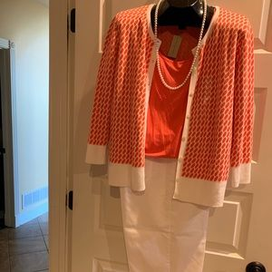 New Ann Taylor Cardigan And Tank Set Large Pretty!